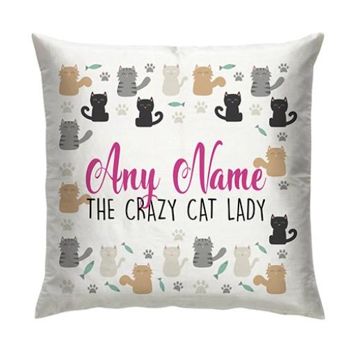 Cushion - Crazy Cat Lady
