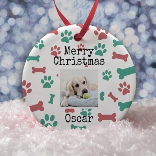 Ceramic Bauble - Pets Christmas Photo Upload 1
