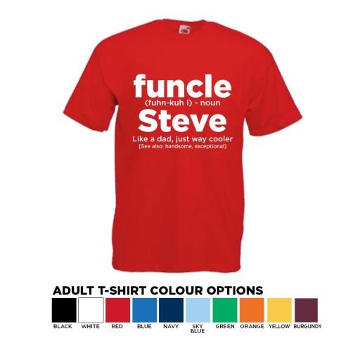 Personalised Original T-shirt FUNCLE- Fun Uncle