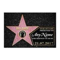Aluminium Wall Art - Hollywood Star
