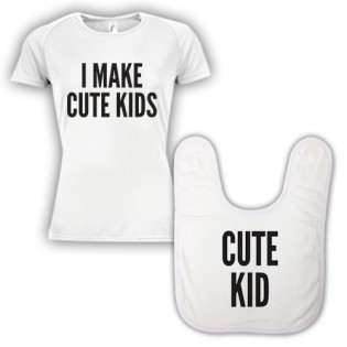 Double Pack Baby Bib & T-Shirt- Cute Kid