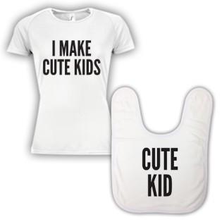Double Pack Baby Bib & T-Shirt- Cute Kid