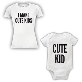 Double Pack Baby Grow & T-Shirt- Cute Kid
