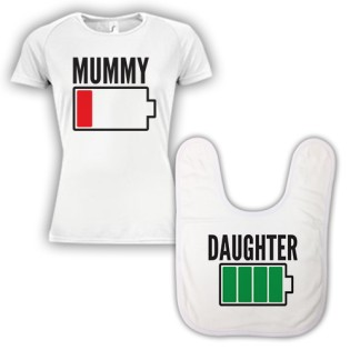 Double Pack Baby Bib & T-Shirt- Mum & Daughter
