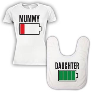 Double Pack Baby Bib & T-Shirt- Mum & Daughter