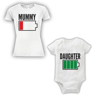 Double Pack Baby Grow & T-Shirt- Mum & Daughter