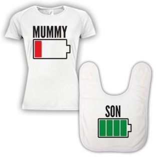 Double Pack Baby Bib & T-Shirt- Mum & Son