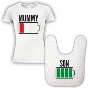 Double Pack Baby Bib & T-Shirt- Mum & Son
