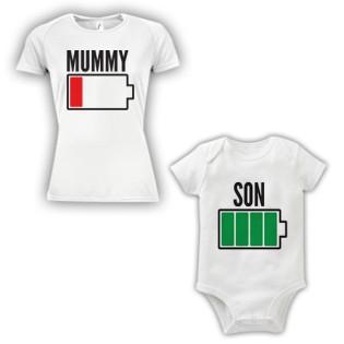 Double Pack Baby Grow & T-Shirt- Mum & Son
