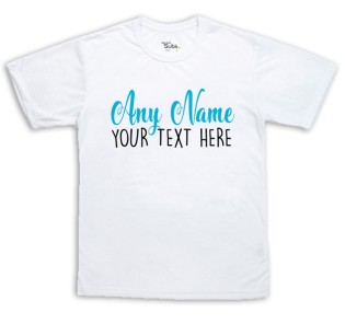 Sublimation T-Shirt - Any Name Any Message Blue
