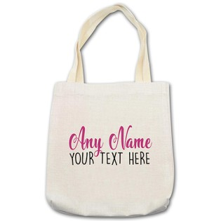 Shopping Bag - Any Name Any Message Pink