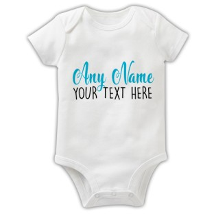 Baby Grow - Any Name Any Text Blue