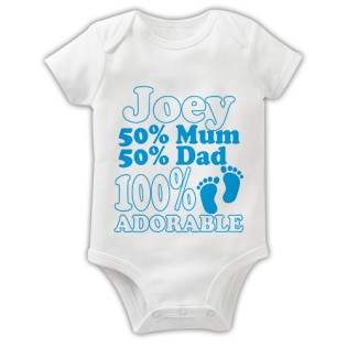 Baby Grow - 100% Adorable Blue