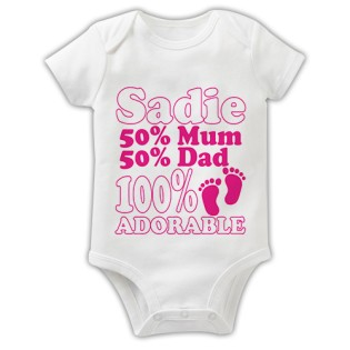 Baby Grow - 100% Adorable Pink