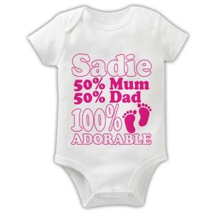 Baby Grow - 100% Adorable Pink