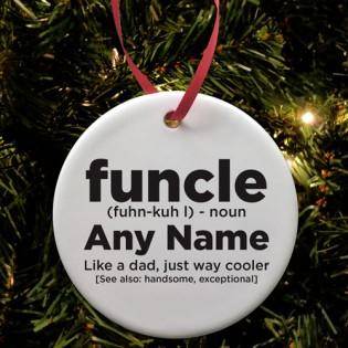 Funcle Fun Uncle Ceramic Bauble