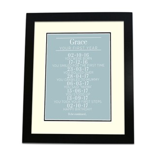 Framed Print - Babies 1st Year Memories