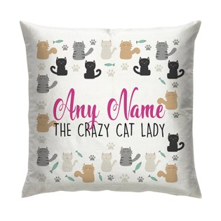 Cushion - Crazy Cat Lady