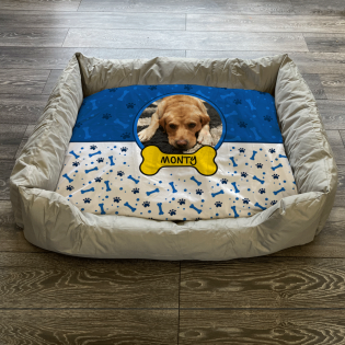 Personalised Dog Bed Blue