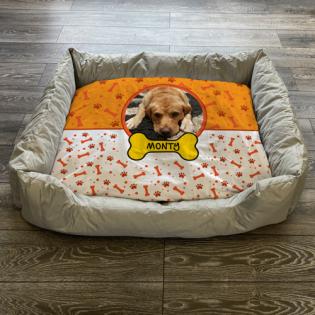 Personalised Dog Bed Orange