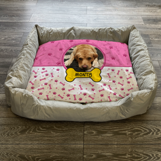 Personalised Dog Bed Pink