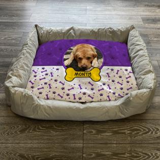 Personalised Dog Bed Purple