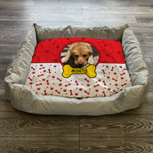 Personalised Dog Bed Red