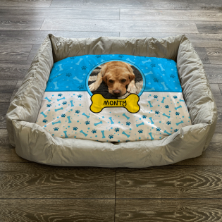 Personalised Dog Bed Sky Blue
