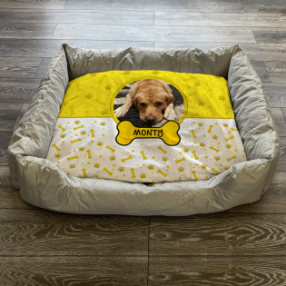 Personalised Dog Bed Yellow