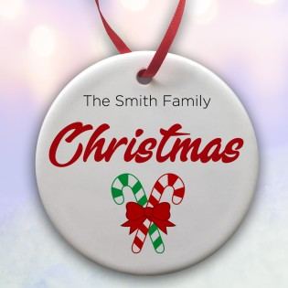 The....... Family Christmas Ceramic Bauble