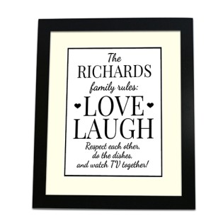 Framed Print - Family Rules