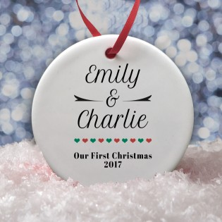1st Christmas Together Bauble