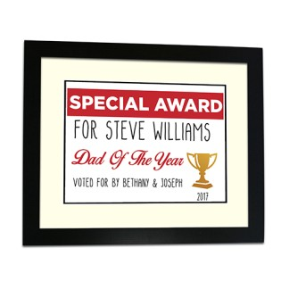 Framed Print - Special Award Person Of The Year
