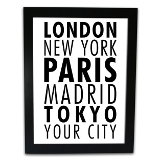 Framed Print - Our Place City Town etc