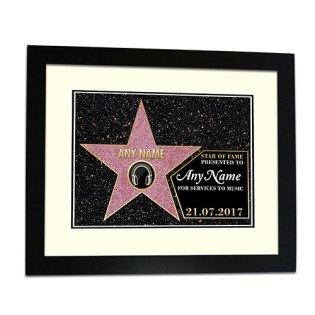 Framed Print - Hollywood Star