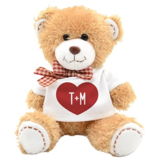 Teddy Bear Heart Initials