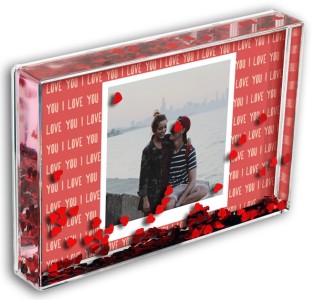 Love Heart Photo Block I Love You