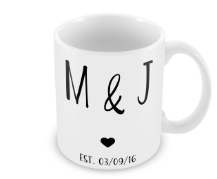 Personalised  Valentines Day Initials Mug