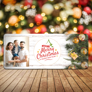 Personalised Christmas Sign Photo Upload Have A Merry Christmas