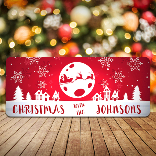 Personalised Christmas Sign Christmas With The