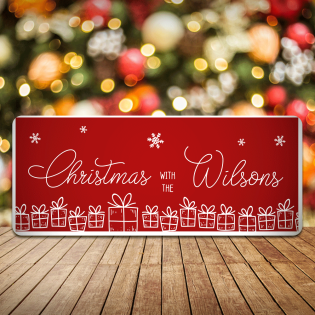 Personalised Christmas Sign Presents Christmas With The Any Names
