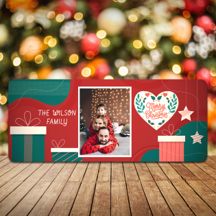 Personalised Christmas Sign Photo Upload Presents