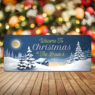 Personalised Christmas Sign Welcome To Christmas