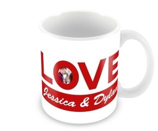 Personalised  Valentines Day Love Mug- Photo Upload