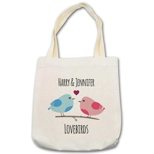 Shopping Bag - Love Birds