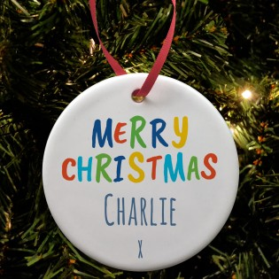 Ceramic Bauble - Merry Christmas Any Name