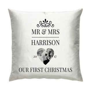 Cushion -  Christmas Mr & Mrs Photo Upload