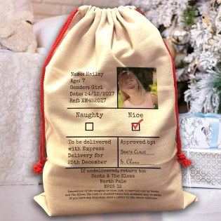 Santa Sack - Naughty Or Nice Santa Sack