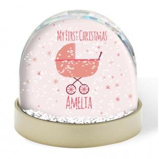 Snow Globe - Baby 1st Christmas Girl