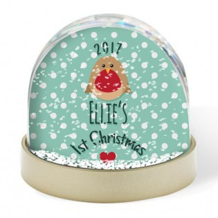 Snow Globe - Merry Christmas Robin